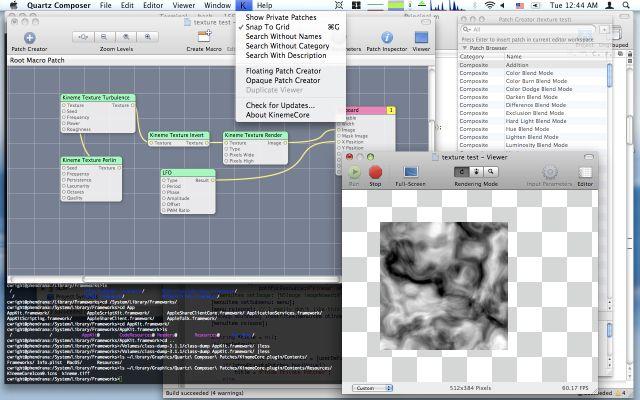 Quartz Composer UI Modification via KinemeCore