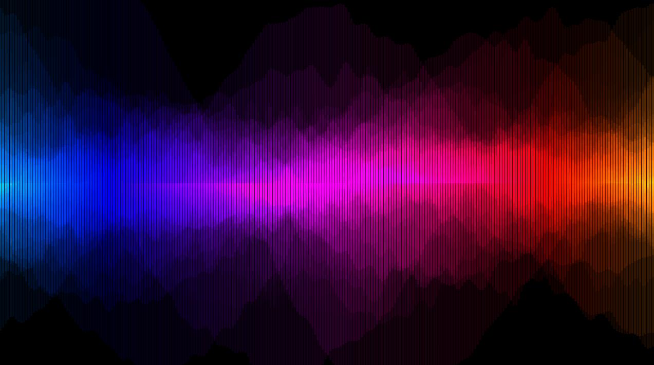 waveform lines (Composition by dust) | Kineme